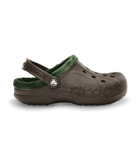 Espresso &amp; Forest Baya Fleece Clog - Men &amp; Women