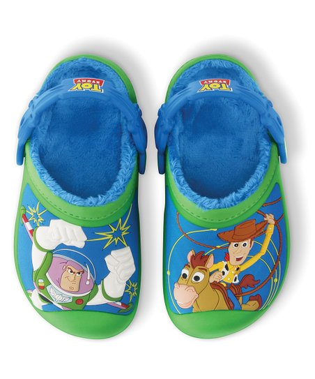 Lime &amp; Ocean Woody &amp; Buzz Lined Clog - Kids