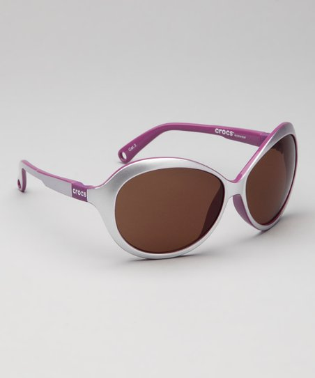 Shiny Pearl White & Dahlia Sunglasses - Kids
