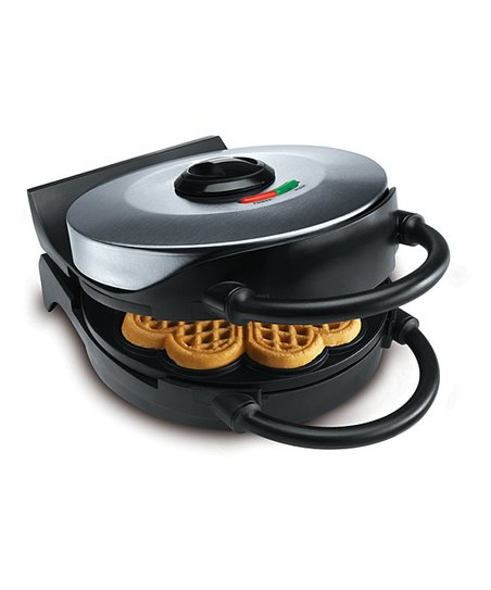 CucinaPro Black Classic Round Heart Waffle Maker