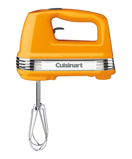 Golden Yellow Five-Speed Power Advantage Hand Mixer