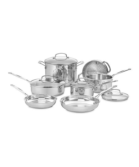 Chef's Classic Stainless Steel Cookware 11-Piece Set