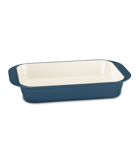 Blue Cast-Iron Lasagna Pan
