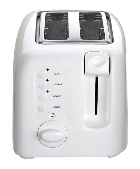 White Compact 2-Slice Toaster