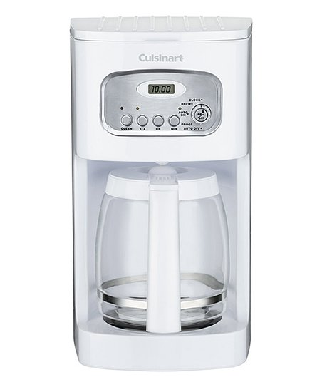 White 12-Cup Programmable Coffeemaker