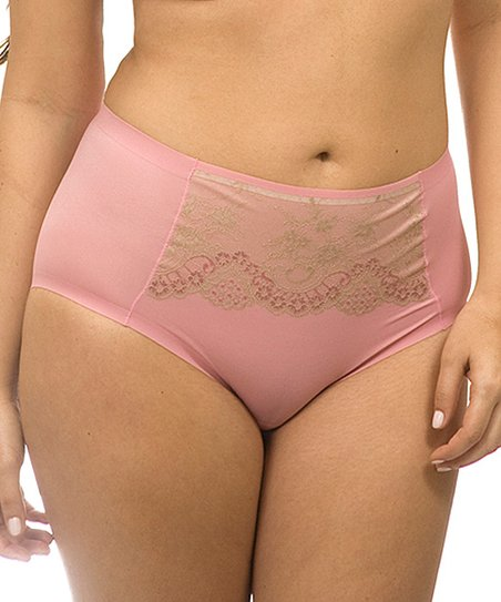 Antique Rose Bella Lace Hi-Cut Briefs