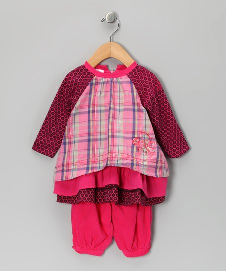 Fuchsia Plaid Tunic & Leggings