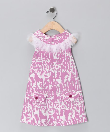 Pink & White Pocket Yoke Dress - Infant