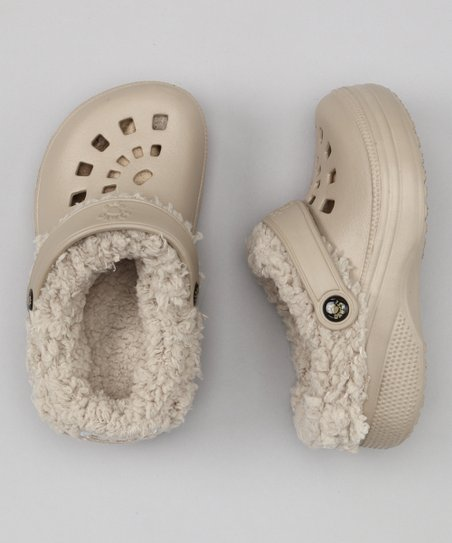 Tan Fleece-Lined Clog - Kids