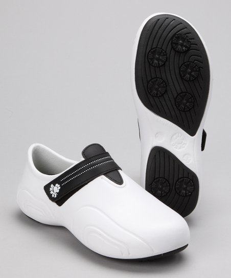 White & Black Ultralite Golf Shoe - Women