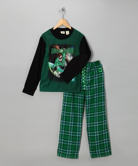 Green & Black 'Green Lantern' Pajama Set - Boys