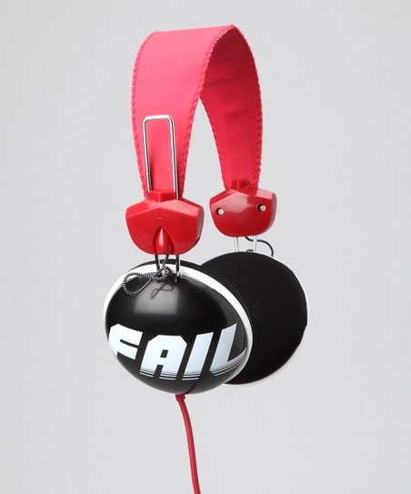 'Fail' Pink Cookie Stereo Headphones