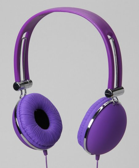 Vibe Purple Soft Touch Stereo Headphones