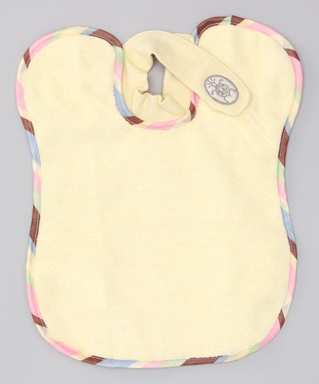 Yellow Stripe DaHugs Bib