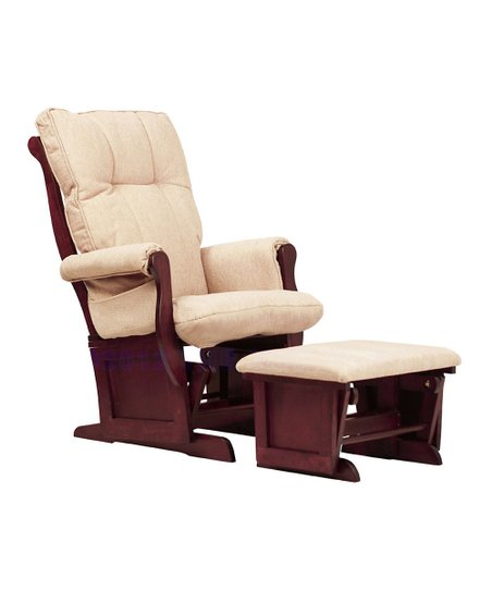 DaVinci Cherry Classic Sleigh Glider &amp; Ottoman