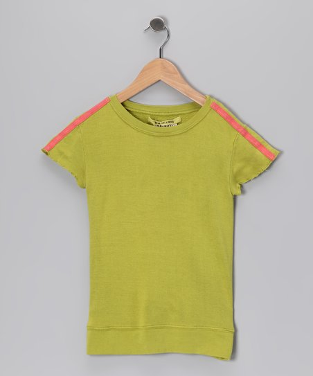 Lime Butterfly Silk Top