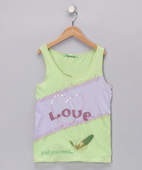 Spring Green &#039;Love&#039; Tank