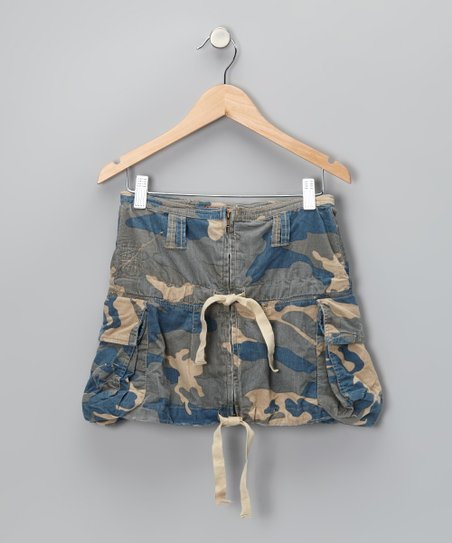 Twilight Camo Cargo Skirt