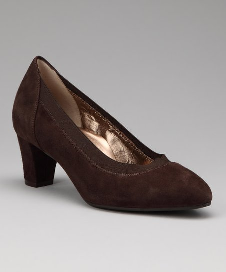 Brown Suede Mary Pump