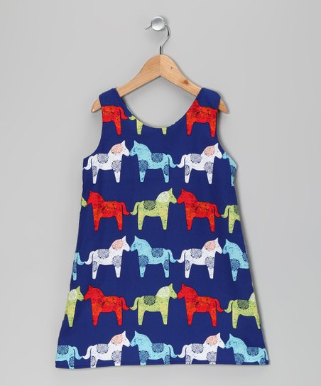 Blue Horse Dress - Infant