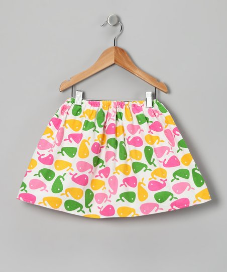 Pink & Green Whale Skirt - Infant, Toddler & Girls