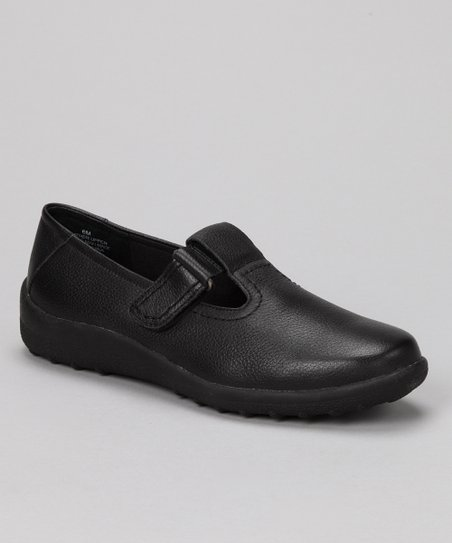 Black Leather Smile Shoe