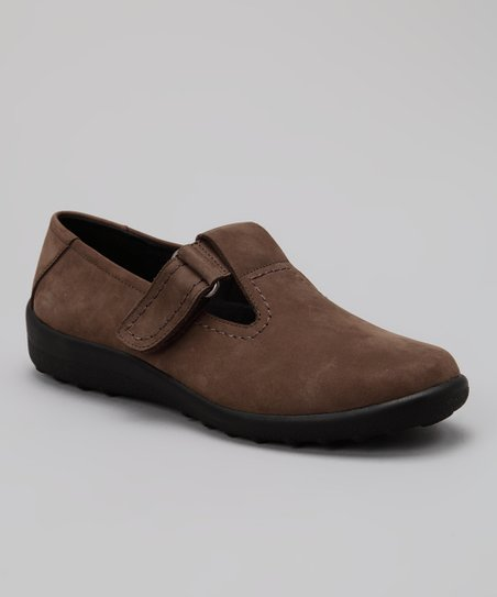 Brown Nubuck Smile Shoe
