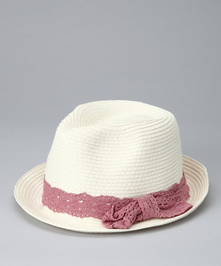 White & Purple Fedora