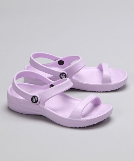 Lilac Triple-Strap Sandal - Girls