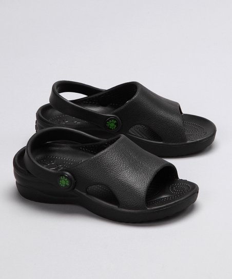 Black Heel-Strap Sandal - Kids