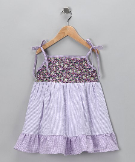 Lavender Flower Dress - Toddler & Girls