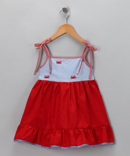 Red Crab Dress - Toddler & Girls