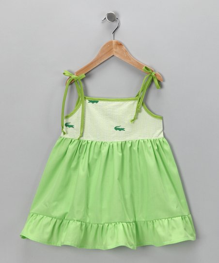Green Alligator Dress - Toddler & Girls
