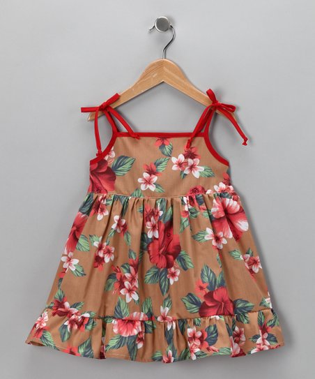 Brown Hawaiian Dress - Toddler & Girls