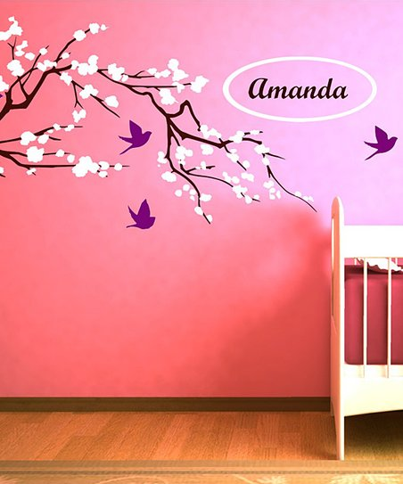 Cherry Blossom Personalized Wall Decal Set
