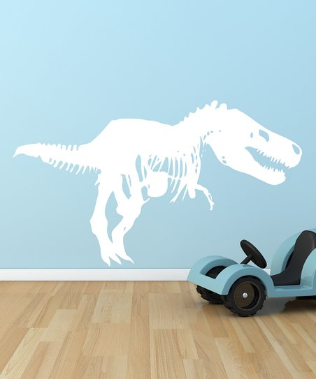 White T-Rex Wall Decal