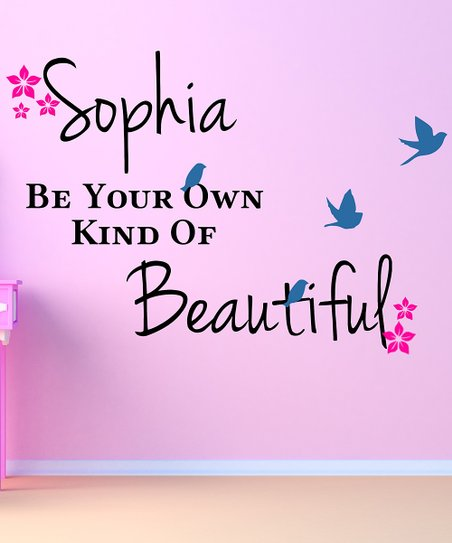 &#039;Own Kind of Beautiful&#039; Personalized Wall Decal Set