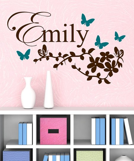 Butterfly Branches Personalized Wall Decal Set