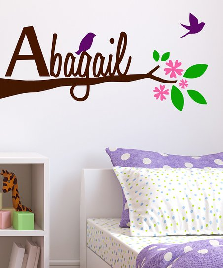 Tree Limb & Birds Personalized Wall Decal Set