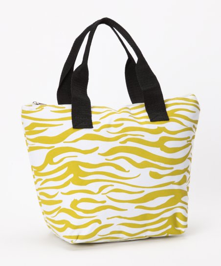 Green Zebra Insulated Lunch Tote