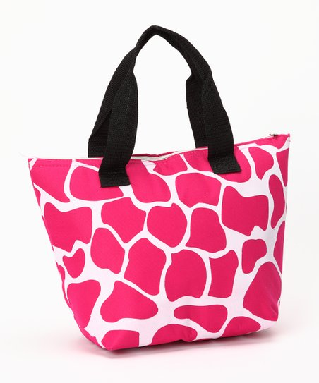 Pink Giraffe Insulated Lunch Tote