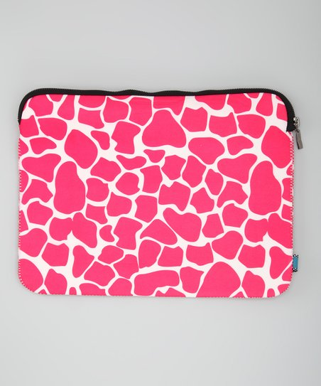 Pink Giraffe Sleeve for Laptops