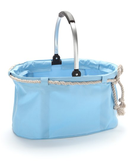 Light Blue Nautical Folding Basket