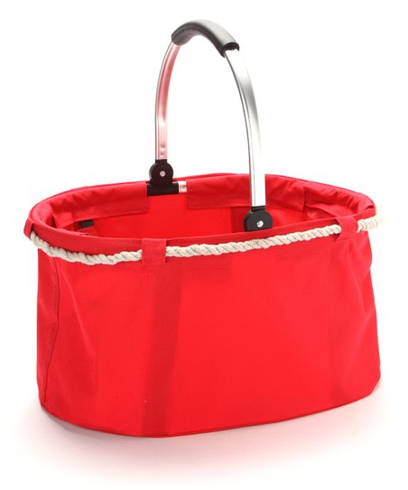Red Nautical Folding Basket