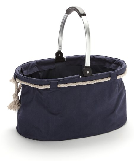 Blue Nautical Folding Basket