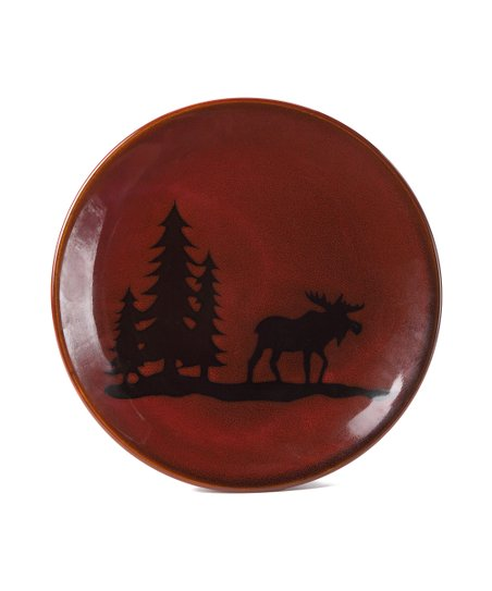 Woodland Moose Salad Plate