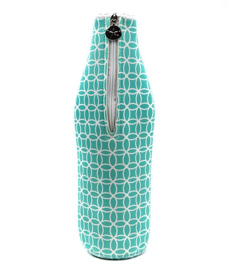 Teal Sea Life Wine Bottle Bag