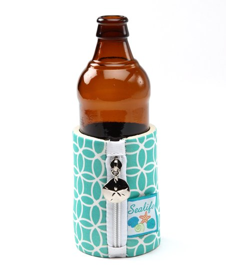 Teal Sea Life Koozie
