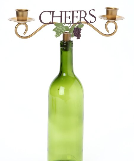 'Cheers' Wine Bottle Topper