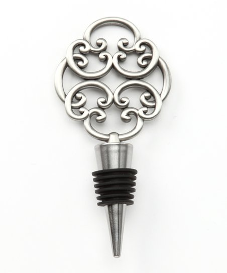 Keyhole Pewter Scroll Bottle Stopper